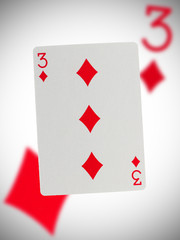 Playing card, three