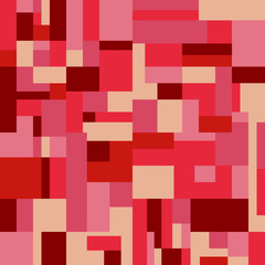 seamless red tone square Rectangle  background vector