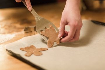Woman Makes Gingerbread Angels