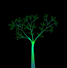 Green tree . Vector