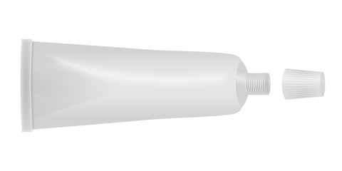 Herstellerneutrale Tube mit abgedrehtem Deckel – Vektor