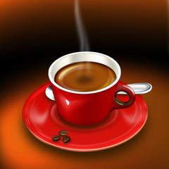 Tasse Kaffe frisch gebrüht