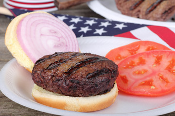 Grilled American Burger