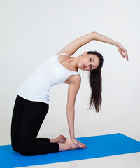 Woman demonstrating the yoga