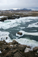 Wild river in Iceland