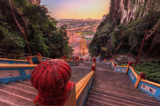 Stairs at Batu Caves
