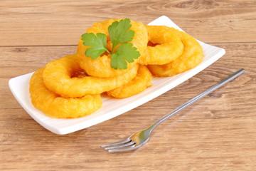 Ración de calamares fritos