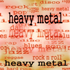 illustration of heavy metal word background, texture
