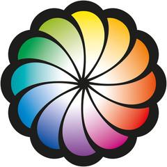 Color Circle Flower (Farbkreis Blume)