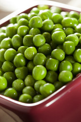 Fresh Green Organic Cooked peas