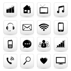 Web and internet icons set.