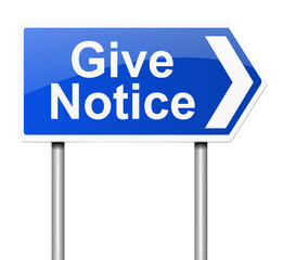 Give notice concept.