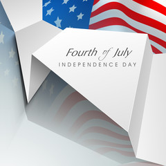 Fourth of July American Independence day background with flag an