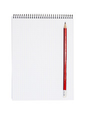Notepad paper with pencil