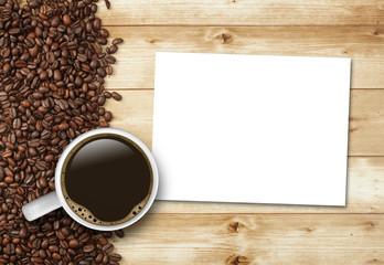 Kaffeetasse mit Zettel
