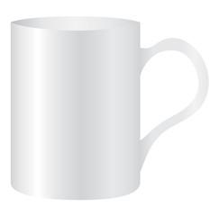 White mug empty blank for coffee or tea