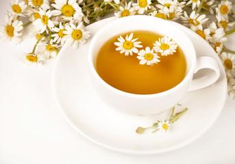 Chamomile tea with chamomile flower
