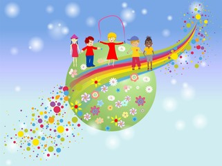 Wall Murals Rainbow dzień dziecka