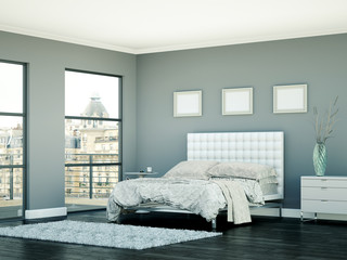 Schlafzimmer in Stadthaus