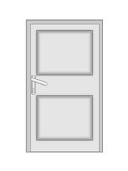 shut the door to on a white background, isolated