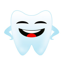 a merry tooth on a white background