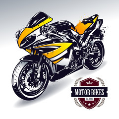 Printed roller blinds Motorcycle Sport motorbike