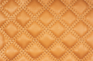 Keuken foto achterwand Leder Sepia picture of genuine leather upholstery