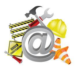 online under construction illustration design