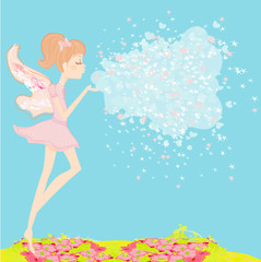 beautiful fairy vector graphic