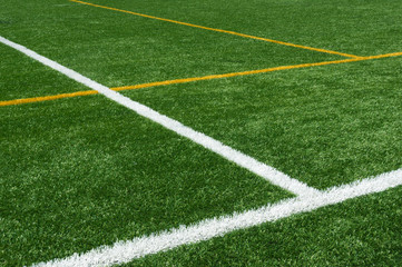 background of lines on football turf