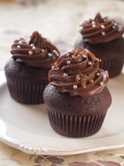 Chocolate and espresso cupcakes