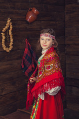 Girl in traditional Russian dress
