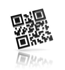 Fotobehang Pixel QR code 3d icon