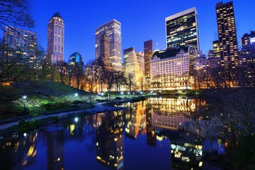 Central Park at Night in New York City