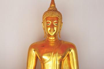 shiny golden buddha image
