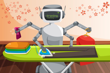 Robot ironing clothes