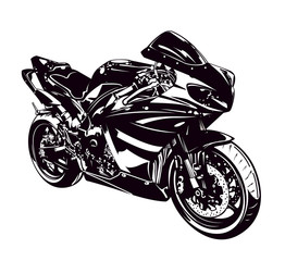 Printed roller blinds Motorcycle Sport motorbike isolated on white