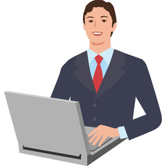 パソコンと男性
