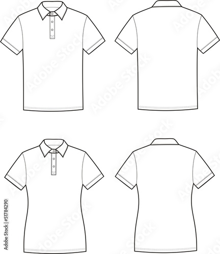 Vector Illustration Of Mens And Womens Polo T Shirts Imagens E Vetores De Stock Royalty Free