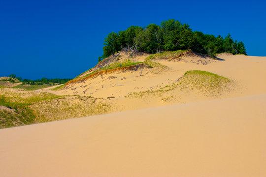 Sleeping Bear Dunes at Lake Michigan.