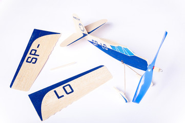 model plane in assembly