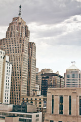 Fototapete - Downtown Detroit