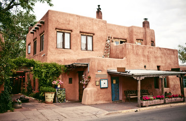 Historical houses of Santa Fe, New Mexico