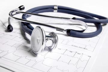 Stethoscope and ECG