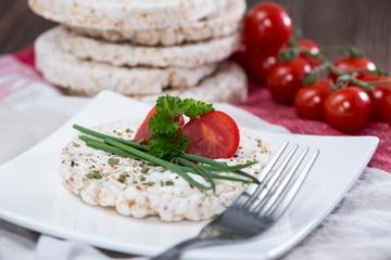 Rice Cake with cream cheese