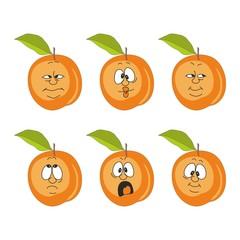 Emotion cartoon peach set 007