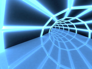 3D Tunnel, perspective view.