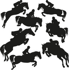 Showjumping vector