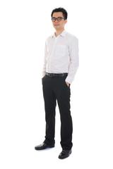 Chinese business man of asian descendants , full length portrait