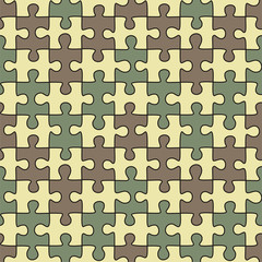 Puzzle seamless pattern. Vector illustration